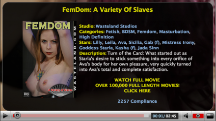 Scene from FemDom: A Variety Of Slaves BDSM Movie